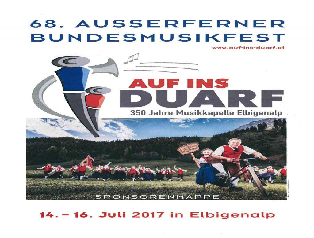 Auf ins Duarf Bundesmusikfest