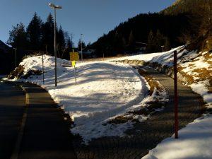 Abzweigung Hinterhornbach-Schröfle Baichlsteinrunde