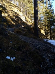 Anstieg nach Talquerung Baichlsteinrunde