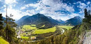 Panoramabild Baichlstein Lechtal