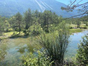 Wasserspaß im Lechtal bei Weißenbach im Baggersee.