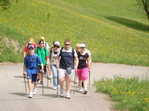 Nordic-Walking für Teenager.