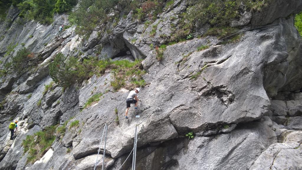 Gamsrunde beim Einstieg Klettersteig Holzgau