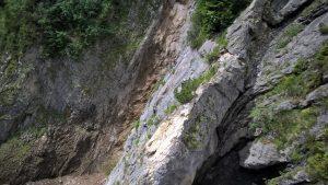 Ausblick zur Steinbockrunde vom Gamsblick am Klettersteig.