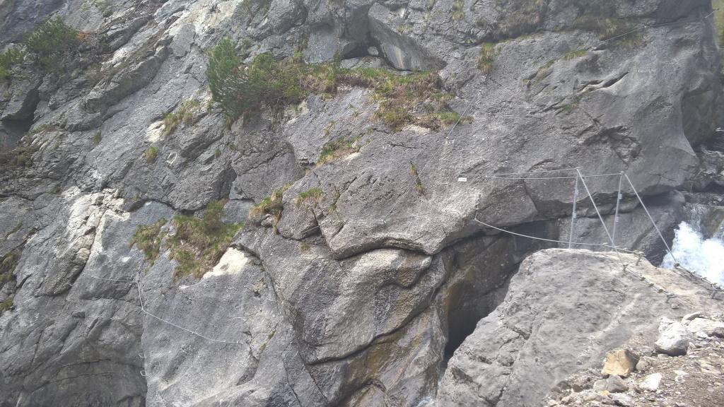 Einstieg Klettersteig Holzgau.