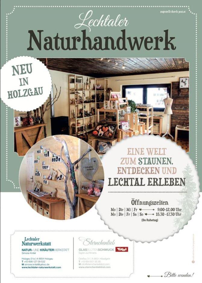 Eröffnungsplakat Lechtaler Kunsthandwerkladen