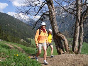 Walking in der unberührten Natur im Lechtal.