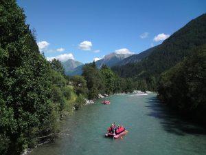 Rafting im Lechtal.
