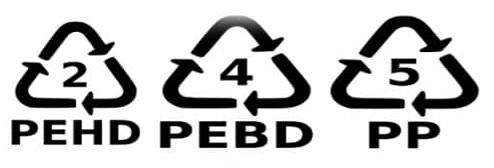 Verschlussdeckel mit diesem Zeichen können gesammelt und Recycelt werden.