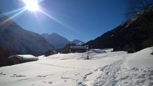 Winterlandschaft Sonnenplateau Holzgau