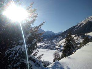 Winterlandschaft Lechtal bei Holzgau