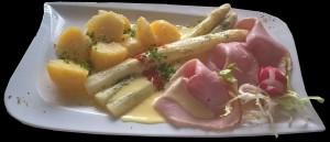 Spargelvorspeise mit Hollandaise Restaurant Dorfstube