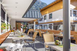 Abendessen in der Gäste-Pension-Hotel-Gasthof Dorfstube in Holzgau.