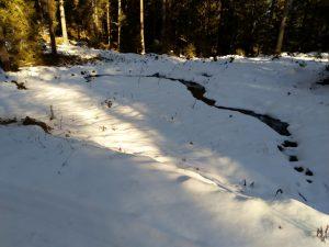 Winterwanderung Baichlstein Bächlein Ebene.