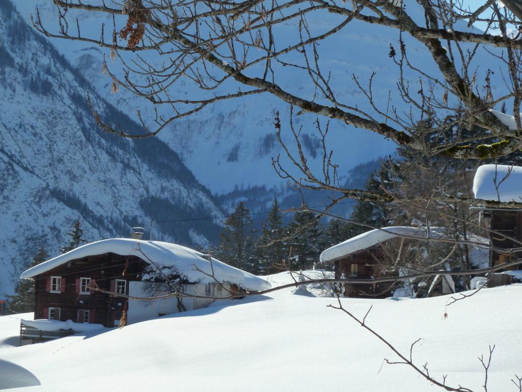 Winter Dorfstube Holzgau