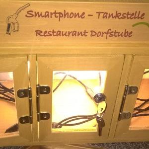 beleuchtete Ladestation zum Abschließen für mobile Endgeräte, Tizi Ladekabel mit drei verschiedenen Anschlüssen