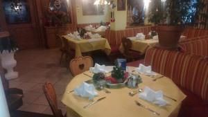 Lokaltische reserviert für Weihnachtsfeier Dorfstube Holzgau