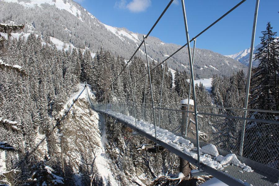 Seit 2012 verfügt Holzgau über eine besondere architektonische Attraktion: seine 200,5 Meter lange und 110 Meter hohe Seilhängebrücke,