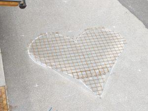 Herzmatte und Grundgerüst für das Herz.