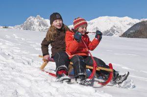 Winterurlaub mit den Kindern im Lechtal