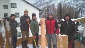 Schneemanntruppe Holzgau.